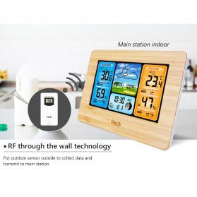FanJu Jam Alarm LED Colorful Thermometer Forecast Weather - FJ3373 - Brown - 9