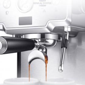 Gemilai Mesin Kopi Semi Automatic Espresso Cappucino 15 Bar Italian Coffee Machine 1.7 Liter - CRM3605 - Silver Black - 3