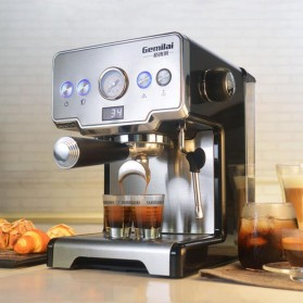 Gemilai Mesin Kopi Semi Automatic Espresso 15 Bar Italian Coffee Machine 1.7 Liter - CRM3605 - Silver Black - 5