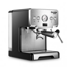 Gemilai Mesin Kopi Semi Automatic Espresso 15 Bar Italian Coffee Machine 1.7 Liter - CRM3605 - Silver Black - 6