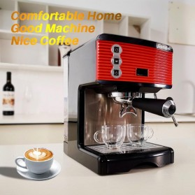 Gemilai Mesin Kopi Semi Automatic Espresso 15 Bar Italian Coffee Machine 1.7 Liter - CRM3601 - Red - 3