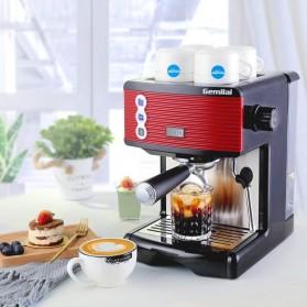 Gemilai Mesin Kopi Semi Automatic Espresso 15 Bar Italian Coffee Machine 1.7 Liter - CRM3601 - Red - 4