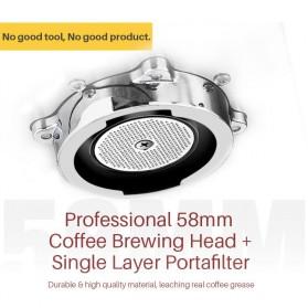 Gemilai Mesin Kopi Semi Automatic Espresso 15 Bar Italian Coffee Machine 1.7 Liter - CRM3601 - Red - 7