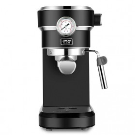 ZZUOM Mesin Kopi Semi Automatic Espresso 15 Bar Italian Coffee Machine 1.1 Liter - BG168T - Black