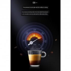 ZZUOM Mesin Kopi Semi Automatic Espresso 15 Bar Italian Coffee Machine 1.1 Liter - BG168T - Black - 10