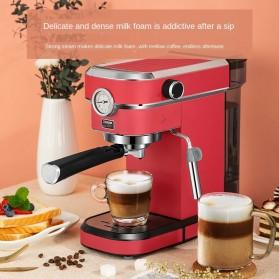 ZZUOM Mesin Kopi Semi Automatic Espresso 15 Bar Italian Coffee Machine 1.1 Liter - BG168T - Black - 2