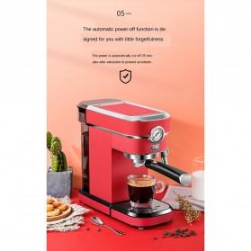 ZZUOM Mesin Kopi Semi Automatic Espresso 15 Bar Italian Coffee Machine 1.1 Liter - BG168T - Black - 8