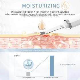 ANLAN C-103 Pembersih Wajah Elektrik Heat Ultrasonic Facial Skin Scrubber Ion Acne Skin Cleanser - ALCPJ04-02 - White - 7