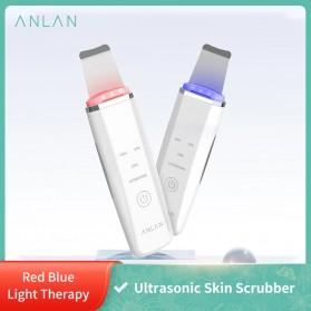 ANLAN JD-CP001 Pembersih Wajah Elektrik Ultrasonic Facial Skin Scrubber Ion Acne Skin Cleanser - ALCPJ05-02 - White