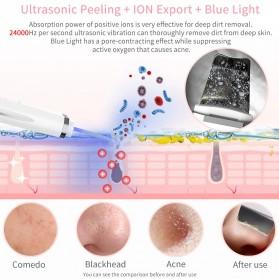 ANLAN JD-CP001 Pembersih Wajah Elektrik Ultrasonic Facial Skin Scrubber Ion Acne Skin Cleanser - ALCPJ05-02 - White - 3