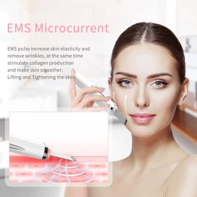 ANLAN JD-CP001 Pembersih Wajah Elektrik Ultrasonic Facial Skin Scrubber Ion Acne Skin Cleanser - ALCPJ05-02 - White - 4