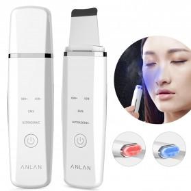ANLAN JD-CP001 Pembersih Wajah Elektrik Ultrasonic Facial Skin Scrubber Ion Acne Skin Cleanser - ALCPJ05-02 - White - 6
