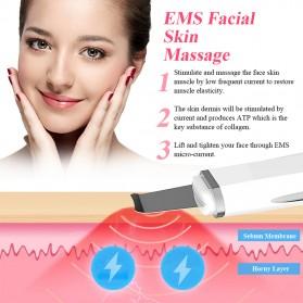 ANLAN JD-CP001 Pembersih Wajah Elektrik Ultrasonic Facial Skin Scrubber Ion Acne Skin Cleanser - ALCPJ05-02 - White - 8