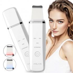 ANLAN JD-CP001 Pembersih Wajah Elektrik Ultrasonic Facial Skin Scrubber Ion Acne Skin Cleanser - ALCPJ05-02 - White - 11