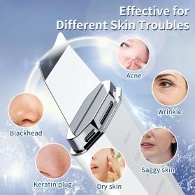 ANLAN Pembersih Wajah Elektrik Heat Ultrasonic Facial Skin Scrubber Ion Acne Skin Cleanser - ALCPJ06-02 - White - 4