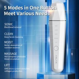 ANLAN Pembersih Wajah Elektrik Heat Ultrasonic Facial Skin Scrubber Ion Acne Skin Cleanser - ALCPJ06-02 - White - 5