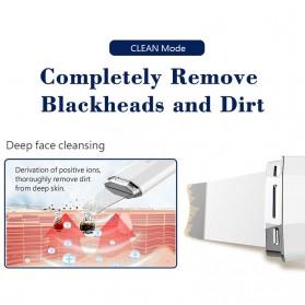 ANLAN Pembersih Wajah Elektrik Heat Ultrasonic Facial Skin Scrubber Ion Acne Skin Cleanser - ALCPJ06-02 - White - 11