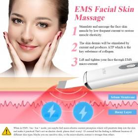 ANLAN 8801 Pembersih Wajah Elektrik Ultrasonic Facial Skin Scrubber Ion Acne Skin Cleanser - ALCPJ08-02 - White - 2