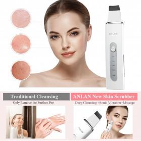 ANLAN 8801 Pembersih Wajah Elektrik Ultrasonic Facial Skin Scrubber Ion Acne Skin Cleanser - ALCPJ08-02 - White - 5
