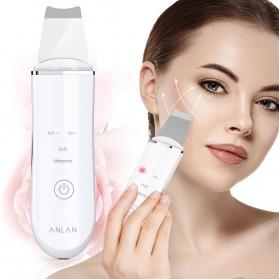 ANLAN C-105 Pembersih Wajah Elektrik Ultrasonic Facial Skin Scrubber Ion Acne Skin Cleanser - ALDRY03-02 - White - 7