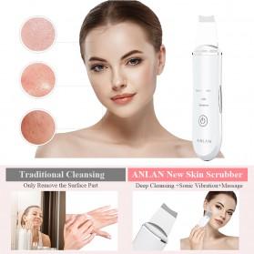 ANLAN C-105 Pembersih Wajah Elektrik Ultrasonic Facial Skin Scrubber Ion Acne Skin Cleanser - ALDRY03-02 - White - 9