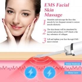 ANLAN C-105 Pembersih Wajah Elektrik Ultrasonic Facial Skin Scrubber Ion Acne Skin Cleanser - ALDRY03-02 - White - 12