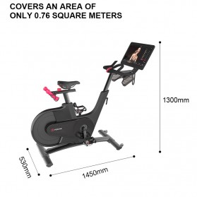 Yesoul V1 Plus Sepeda Statis Spinning Bicycle Exercise Indoor Gym Bike 21.5 Inch Touch Screen - Black - 8