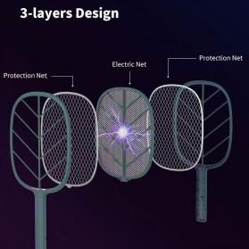 SOLOVE Raket Nyamuk Mini Electric Mosquito Racket Rechargeable - P2 - Green - 4
