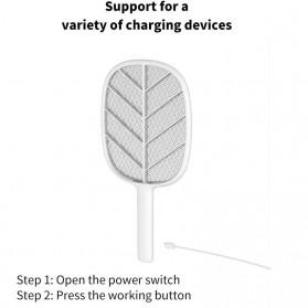 SOLOVE Raket Nyamuk Mini Electric Mosquito Racket Rechargeable - P2 - Green - 5