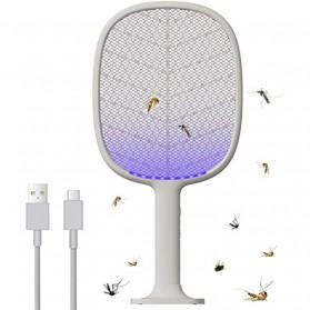 SOLOVE Raket Nyamuk Mini Electric Mosquito Racket Rechargeable UV LED - P2+ - Light Gray