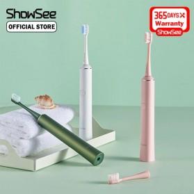 ShowSee Sikat Gigi Sonic Elektrik Toothbrush Rechargeable Waterproof  - D1-W/D1-P - Pink - 2