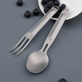 NexTool Sendok dan Garpu Outdoor Camping Cutlery Separable Portable Titanium - KT5525 - Silver - 5