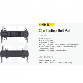 Nitecore Military Slim Tactical Belt Pad - MB SL - Black - 3