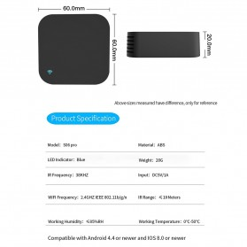 BACO Universal Smart Remote Controller WIFI+IR Humidity Sensors S06Pro - Black - 6