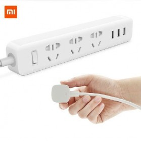 Xiaomi Mi Smart Power Strip 3 Plug dengan 3 USB Port 2A - XMCXB01QM (ORIGINAL) - White
