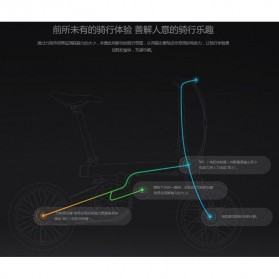 Xiaomi QiCycle EF1 Sepeda Elektrik Lipat Smart Bicycle (EU Version) - Black - 7