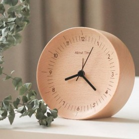 Xiaomi Bela Design Wood Alarm Clock Jam Alarm Kayu About Time - TC1714 - Brown
