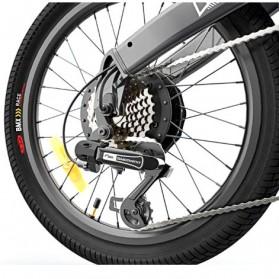 Xiaomi HIMO C20 Sepeda Elektrik Smart Moped Bicycle 250W 80KM - White - 8