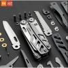 Perkakas - Xiaomi Huohou Pisau Multifungsi Folding Knife Pembuka Botol Screwdriver Stainless Steel - Silver