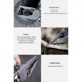 Xiaomi Huohou Pisau Multifungsi Folding Knife Pembuka Botol Screwdriver Stainless Steel - HU0040 - Silver - 11