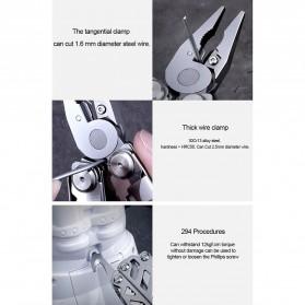 Xiaomi Huohou Pisau Multifungsi Folding Knife Pembuka Botol Screwdriver Stainless Steel - HU0040 - Silver - 12