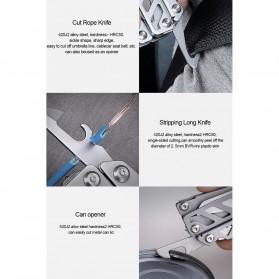 Xiaomi Huohou Pisau Multifungsi Folding Knife Pembuka Botol Screwdriver Stainless Steel - HU0040 - Silver - 13
