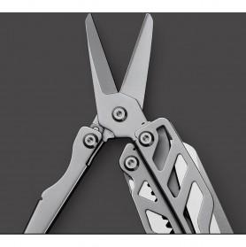 Xiaomi Huohou Pisau Multifungsi Folding Knife Pembuka Botol Screwdriver Stainless Steel - HU0040 - Silver - 7