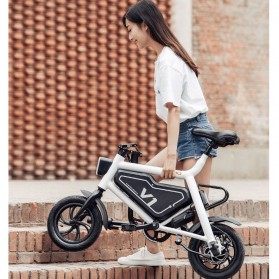 Xiaomi HIMO V1 Plus City Version Sepeda Elektrik Smart Moped Bicycle 250W - White - 10