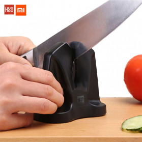 Xiaomi Mijia Huohou Pengasah Pisau Knife Sharpener Whetstone Tungsten Steel - HU0034 - Black - 2