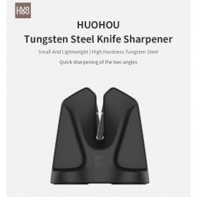 Xiaomi Mijia Huohou Pengasah Pisau Knife Sharpener Whetstone Tungsten Steel - HU0034 - Black - 7