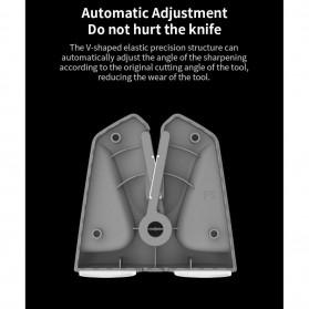 Xiaomi Mijia Huohou Pengasah Pisau Knife Sharpener Whetstone Tungsten Steel - HU0034 - Black - 9