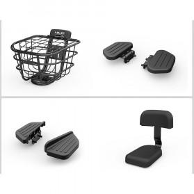 Xiaomi Kursi Belakang Sepeda Back Cushion Backrest + Rear Pedal for Xiaomi Himo T1 - Black - 5