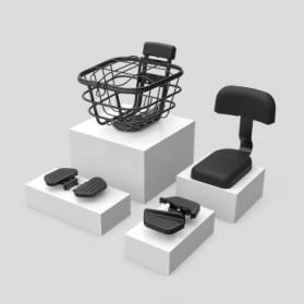 Xiaomi Kursi Belakang Sepeda Back Cushion Backrest + Rear Pedal for Xiaomi Himo T1 - Black - 6