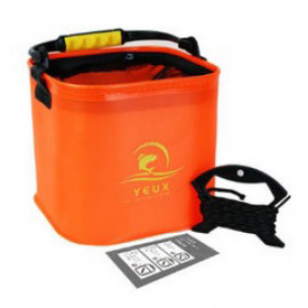 Xiaomi Yeux Ember Pancing Lipat Outdoor Foldable Fishing Bucket 10 Liter - YTDS2210 - Orange